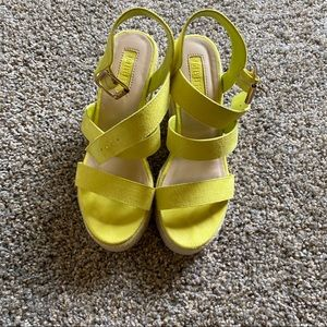 Forever 21 Neon Yellow Wedges